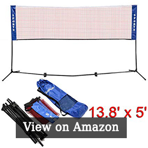 Goplus Portable Badminton Net Beach Volleyball Tennis Competition Training Net w/Carrying Bag