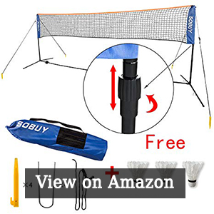 Haotian Height Adjustable Badminton Net, Tennis Volleyball Net with Stand / Frame