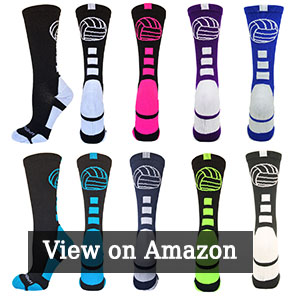 MadSportsStuff Volleyball Logo Crew Socks (multiple colors)